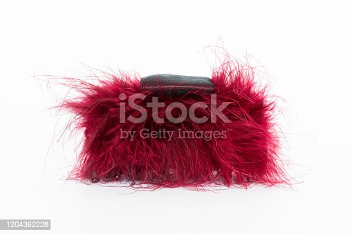 Red feather barrette,Feather headdress