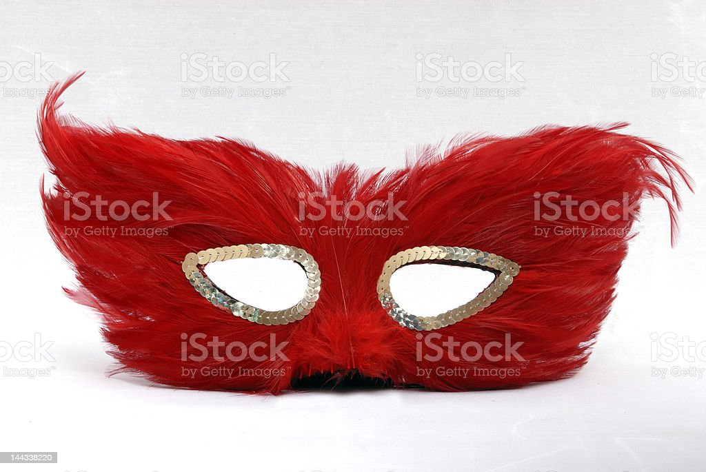 Red Feather Mask royalty-free stock photo