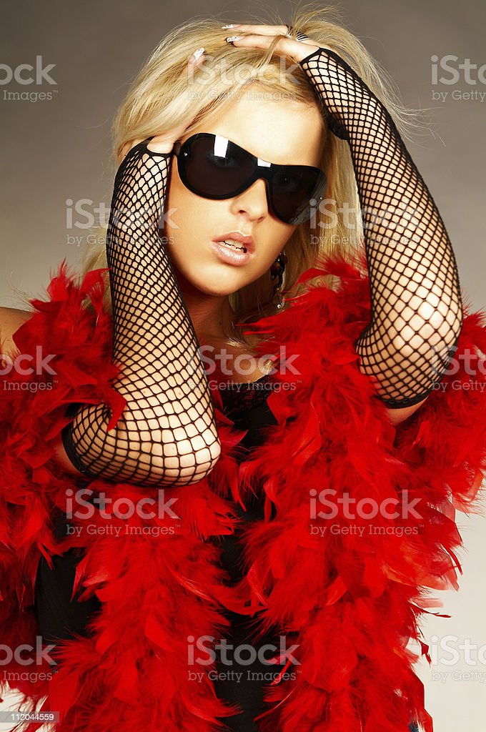 Red feathers royalty-free stock photo