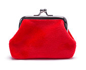 Red Felt Change Purse