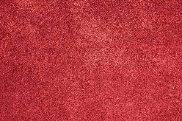 red felt, plush, carpet or velvet background - 皮草 個照片及圖片檔