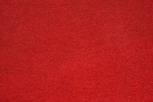 red felt table surface extremal close up - felt textile stock pictures, royalty-free photos & images