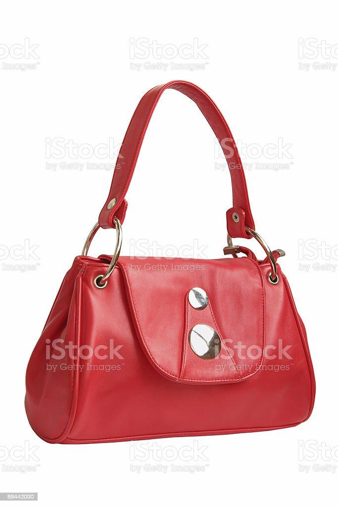 red female handbag royalty free stockfoto