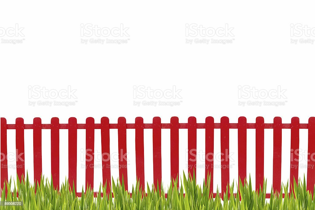 Red fence isolated royalty-free stock photo