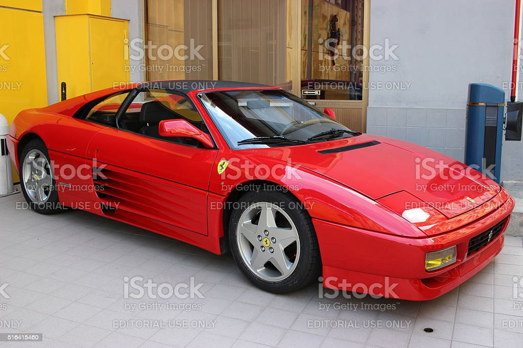 Red Ferrari 348 TS in Monaco stock photo