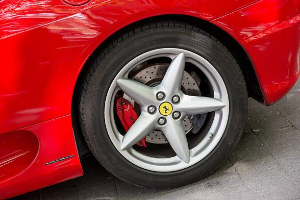 Red Ferrari stock photo