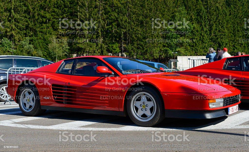 Red Ferrari Testarossa 1980s Sports Car Side View Stockfoto Und Mehr Bilder Von 1980 1989 Istock