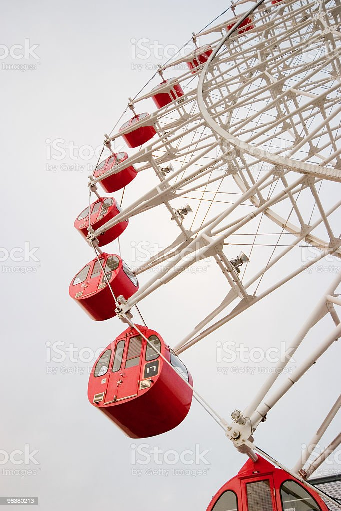 Red ferris wheel royalty-free stock photo