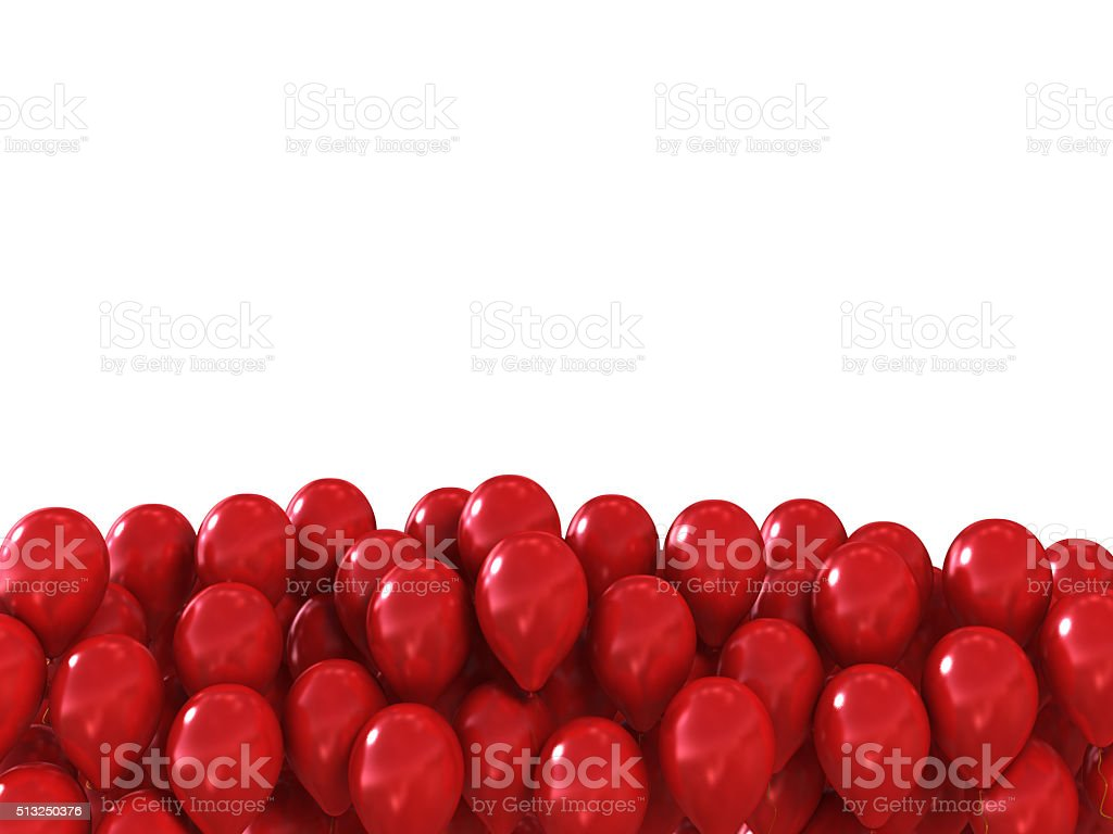 red festive balls as a background with space for text stock photo