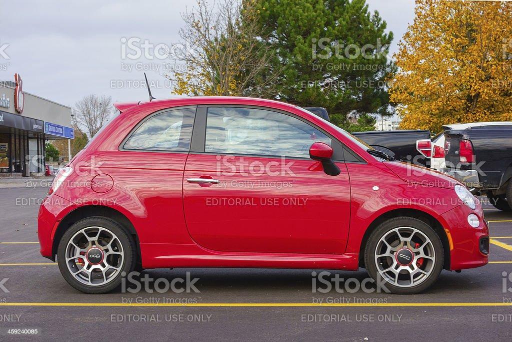 Rosso Fiat 500 - foto stock
