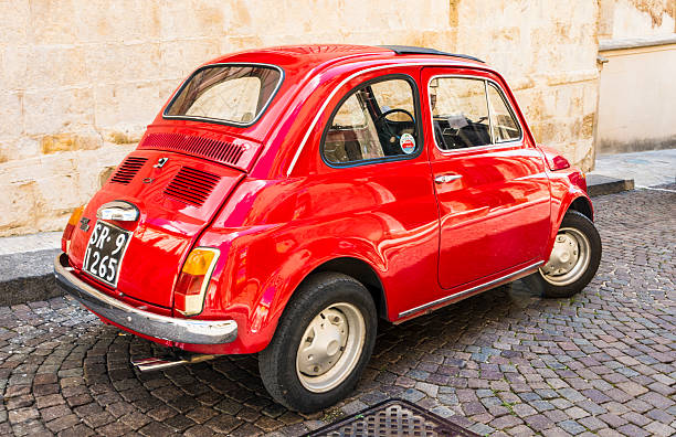 Red Fiat stock photo