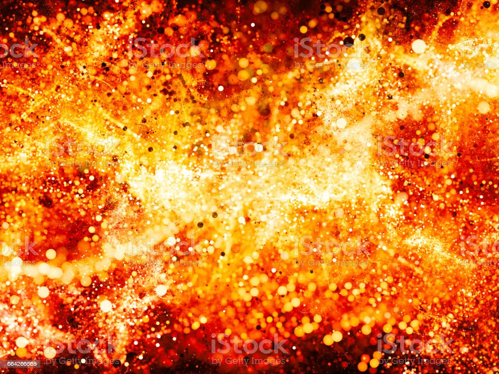 Red fiery glowing vibrant bubbles abstract background stock photo