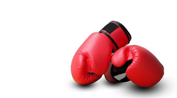 Rote Handschuhe kämpfen – Foto
