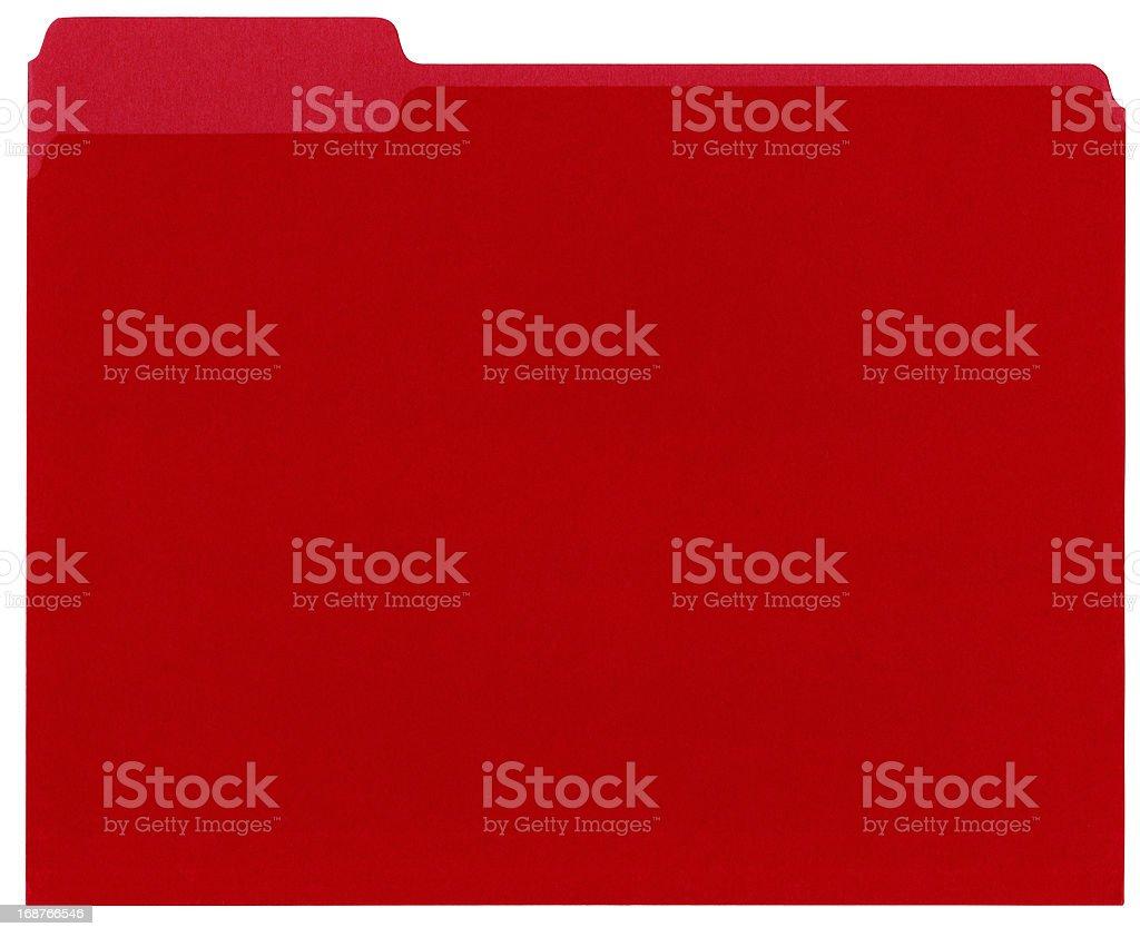 Red File Folder XXXL stock photo