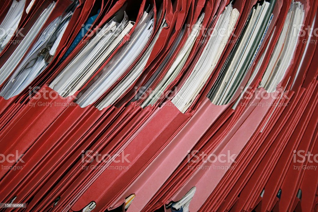 Red Files royalty-free stock photo