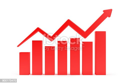 1014755036 istock photo Red Finance Graph Isolated On White Background. 900173470