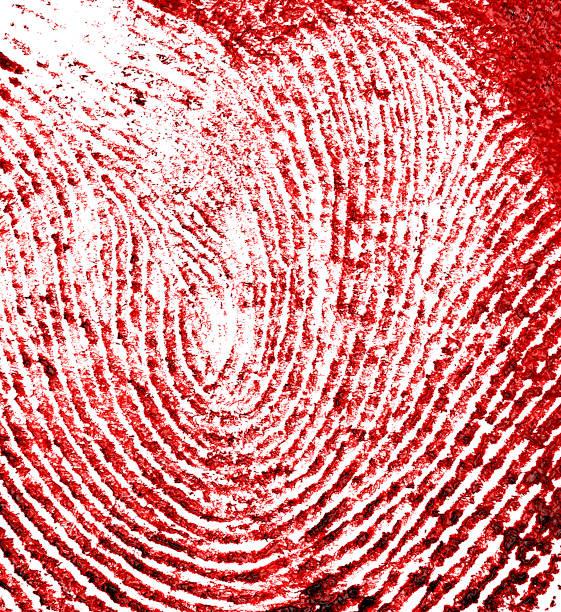 Impressão digital vermelho como pano de fundo - foto de acervo