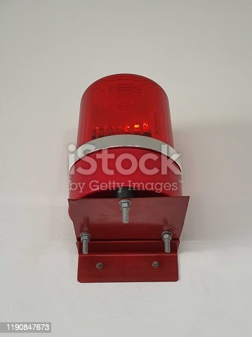 174913699 istock photo Red fire alarm sounder on a white wall 1190847673