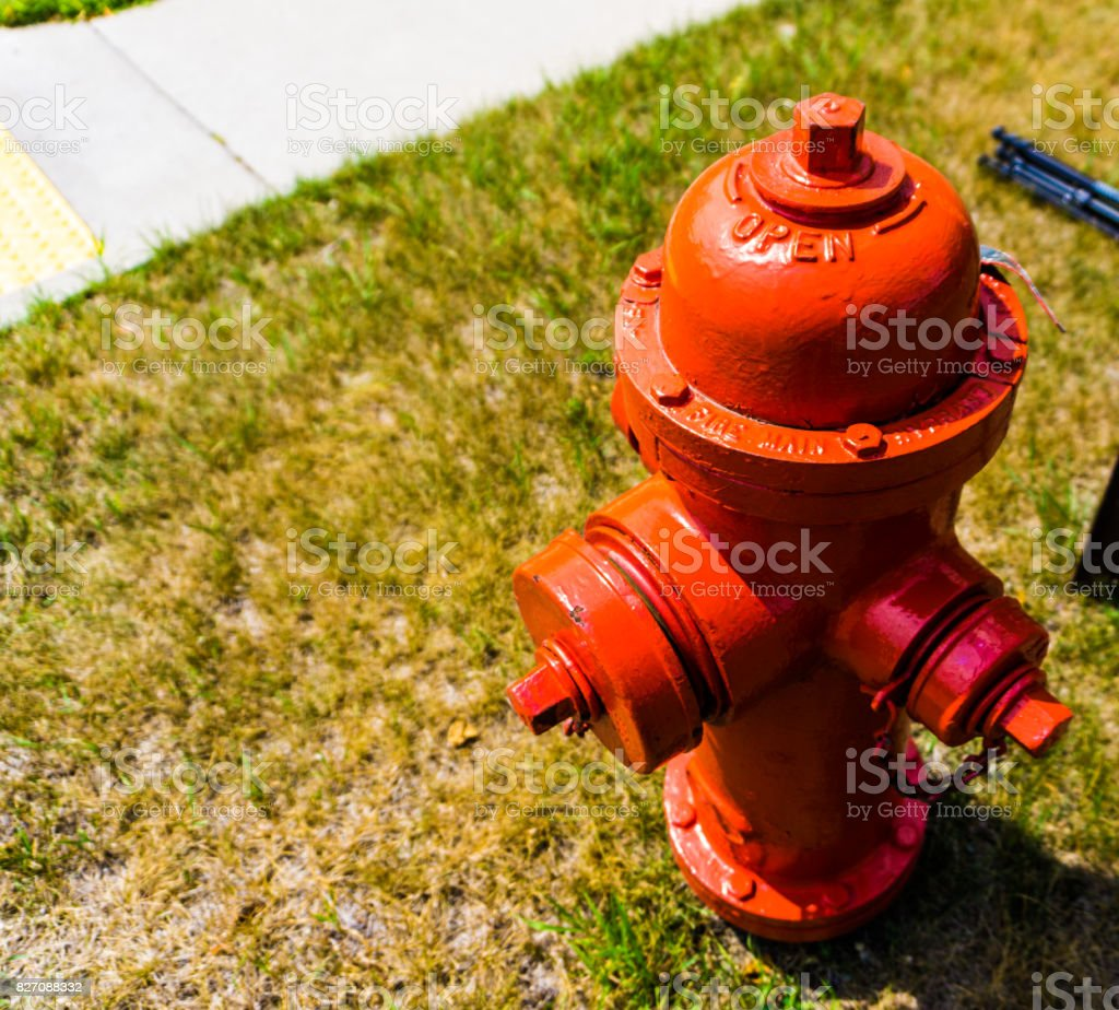Red Fire Hydrant stock photo