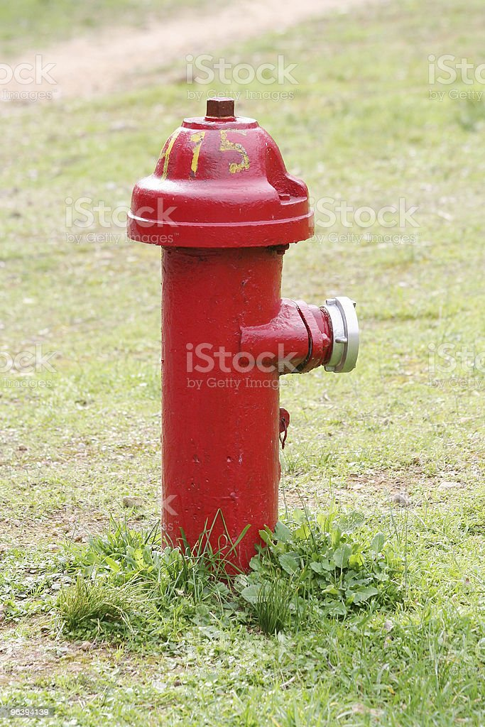 Red Fire Hydrant - Royalty-free Color Image Stock Photo