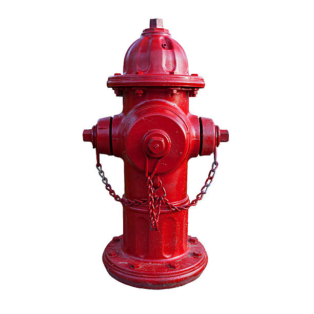 Red fire hydrant with white background Freshly painted it just stands out. fire hydrant stock pictures, royalty-free photos & images