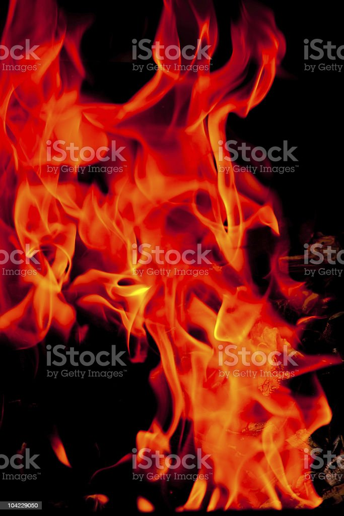 Red fire stock photo