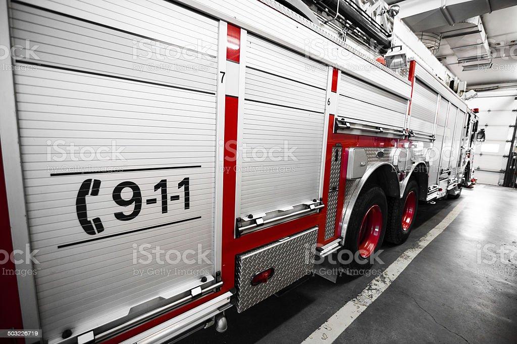 Rojo Firetruck Detalles de la derecha. - foto de stock