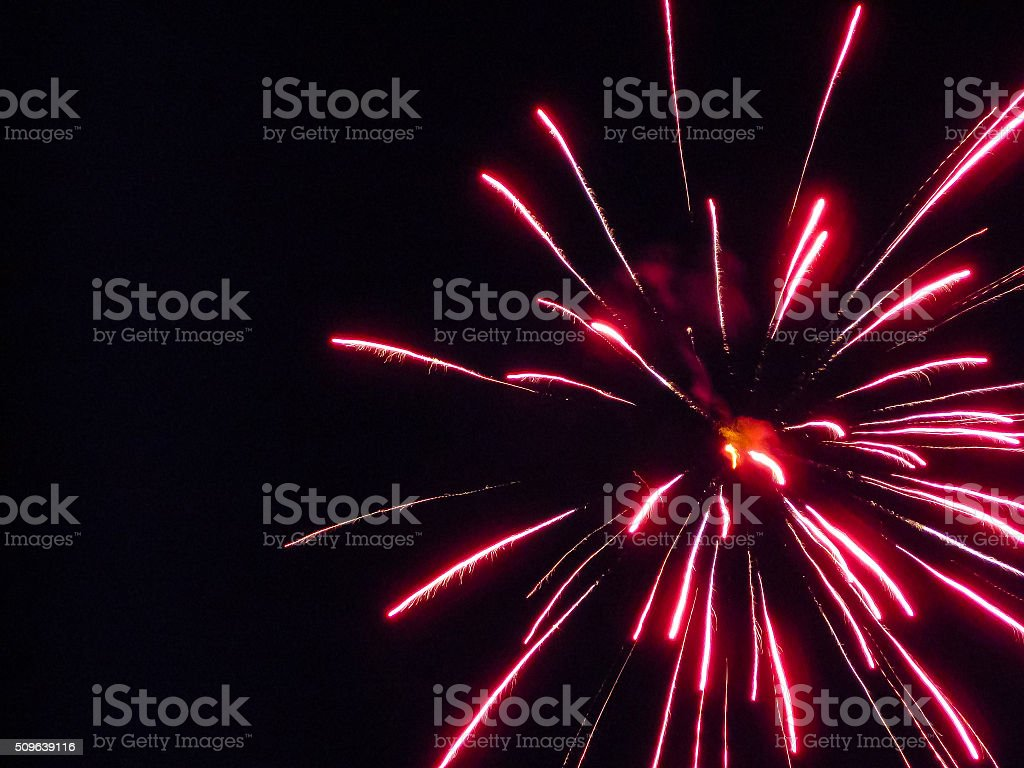 Red Firework stock photo