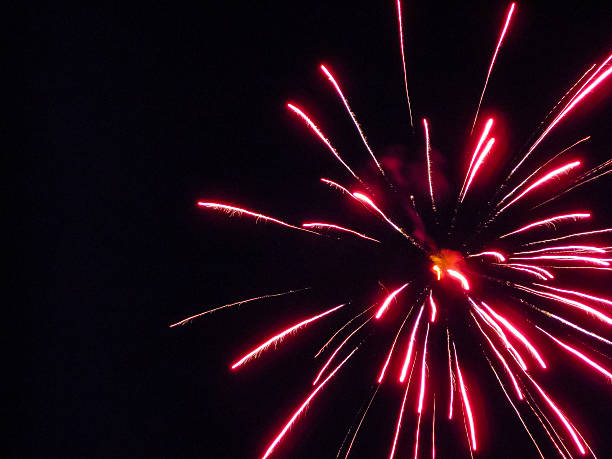 Red Firework stock photo