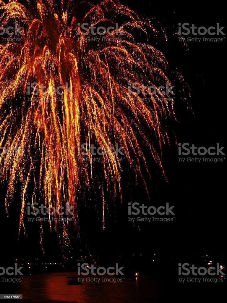 red firework royalty-free stock photo