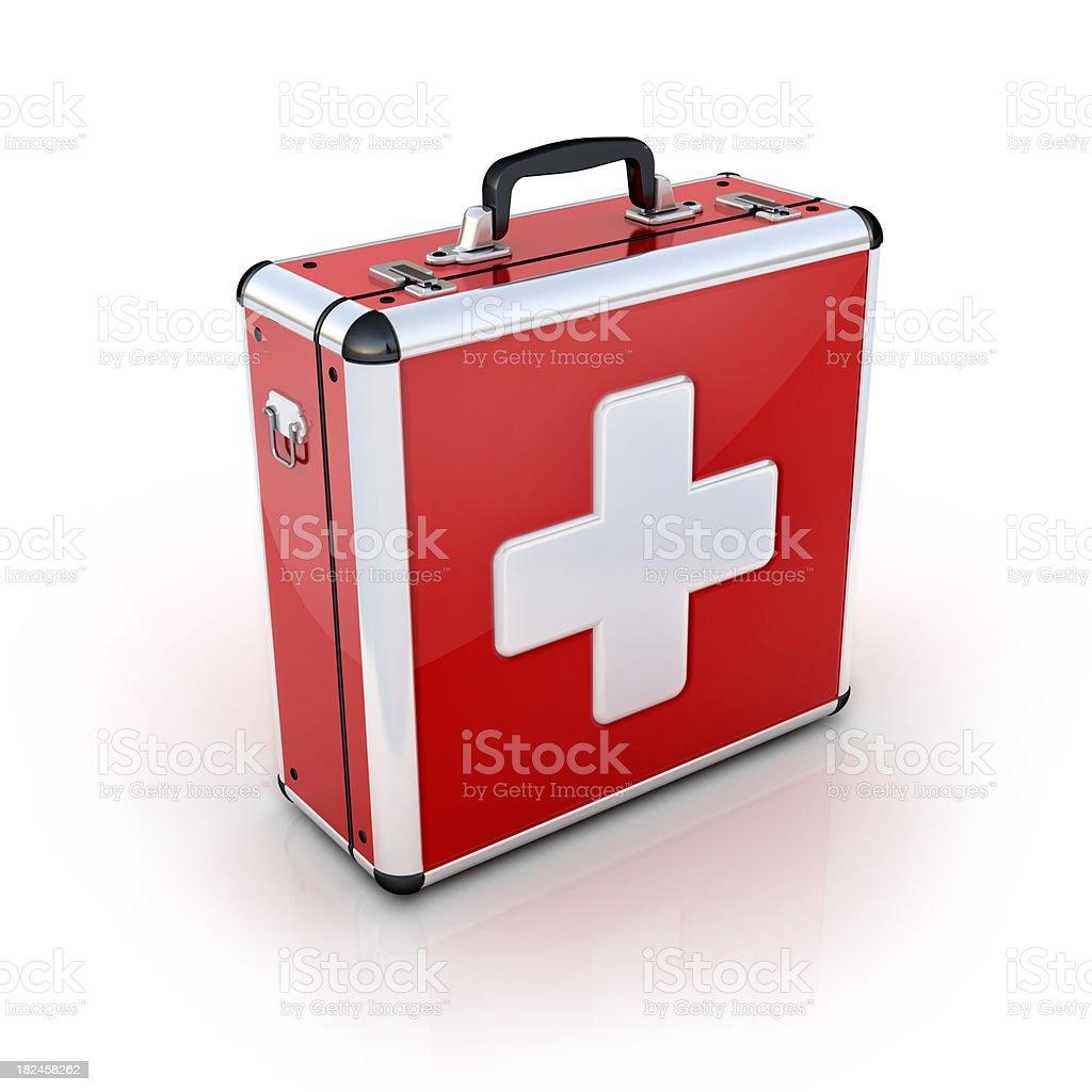 Rojo Maletín de primeros auxilios foto de stock libre de derechos