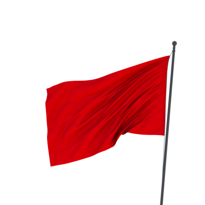 [b]36 Mp red flag isolated on white.  Red flag is a symbol with diverse meanings in different fields. It is used in politics as a communist symbol, in military symbolizing special exercises (