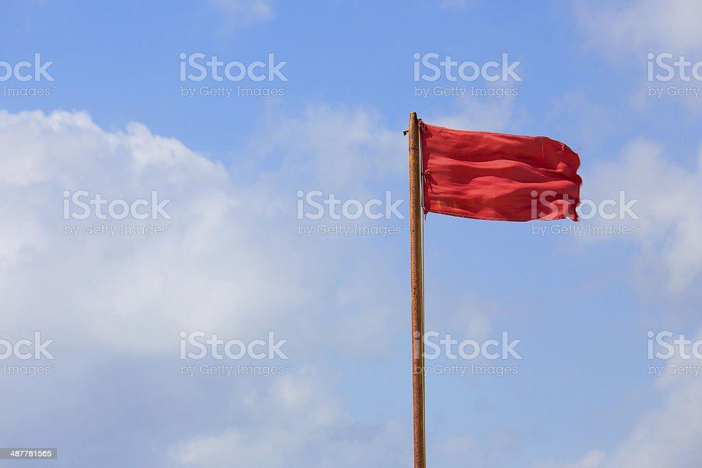 Red flag warning stock photo