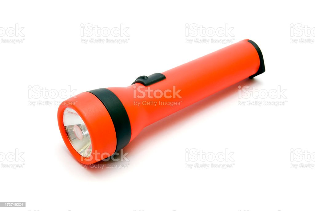 Red flashlight royalty-free stock photo