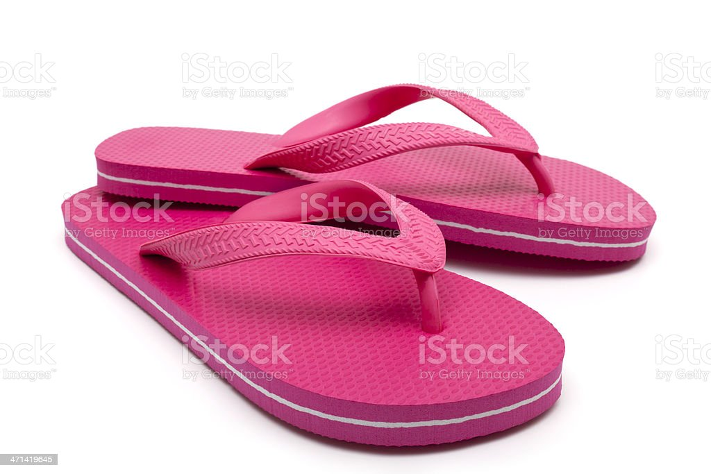 Red flip-flop stock photo