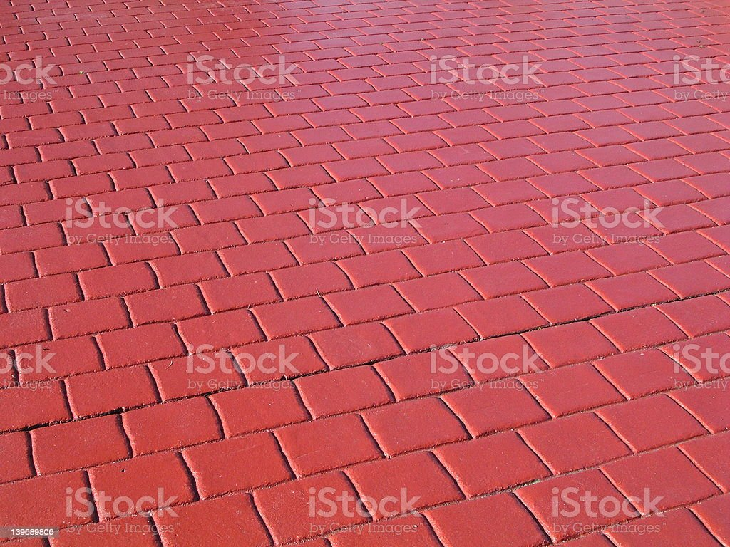 Red floor tiles stock photo