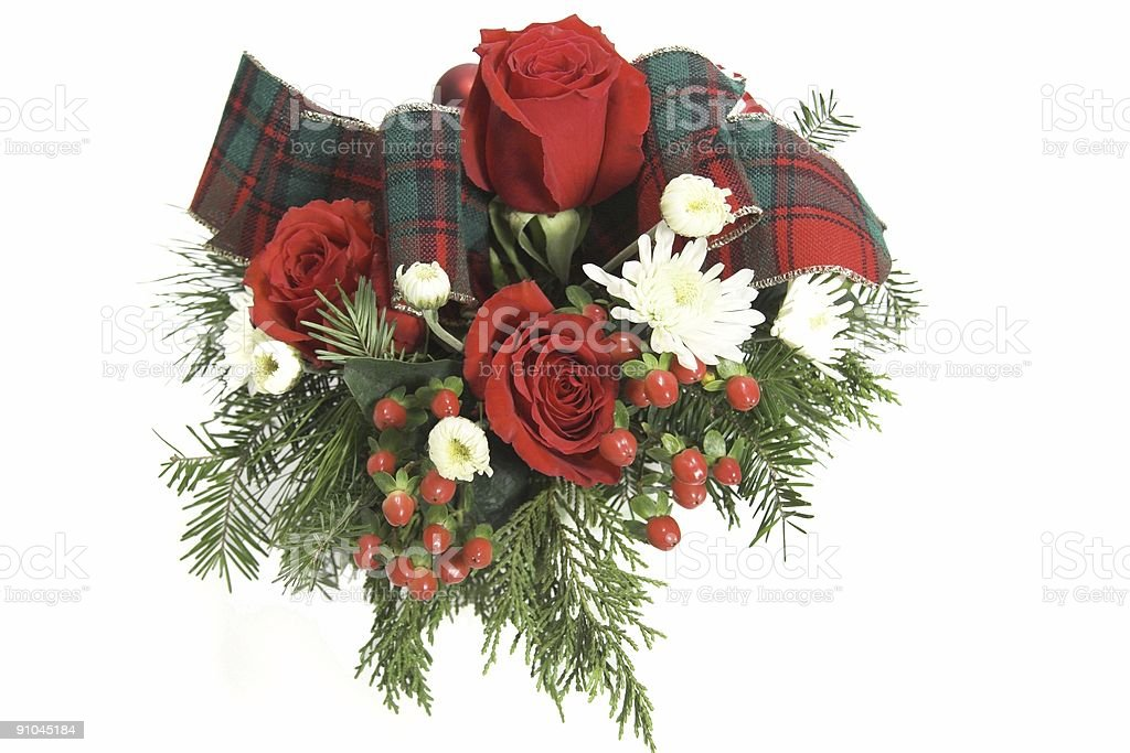Red floral arrangement royalty-free stock photo