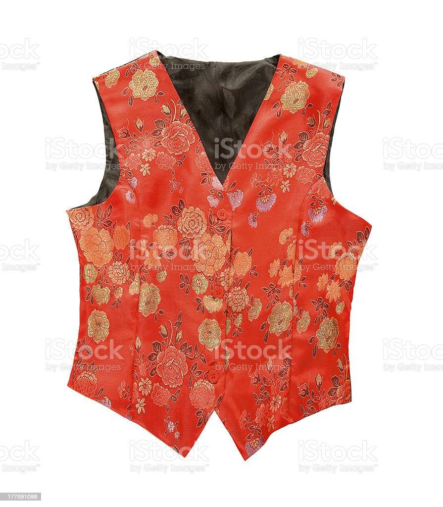 Red flowery vest royalty-free stock photo
