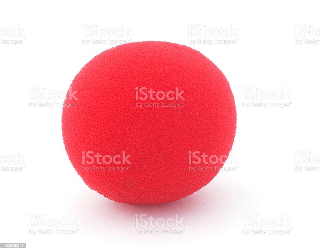 Red Foam Clown Nose stock photo