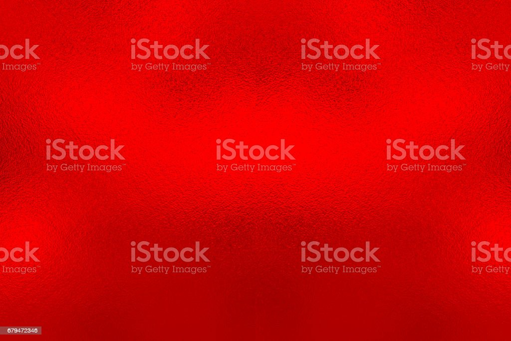 Red foil background, metal texture stock photo