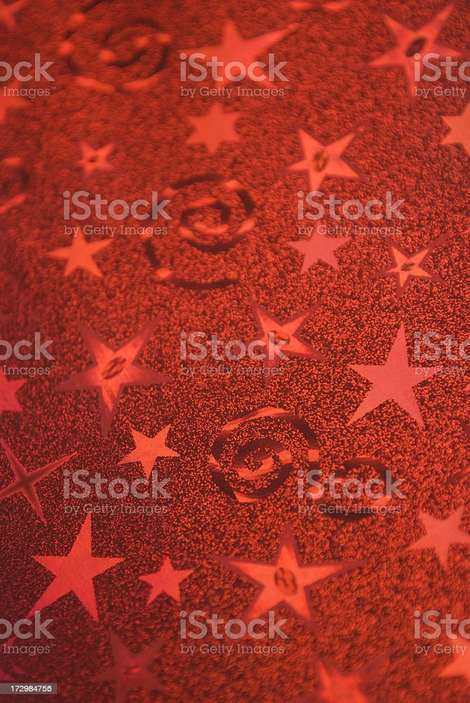 Red Foil Celebration Wrapping Paper stock photo