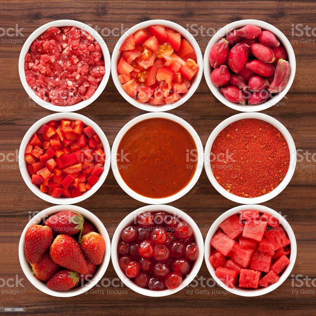 Red foods stock photo