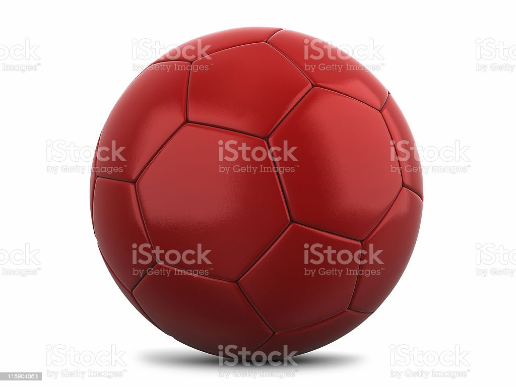 Red Footy stock photo