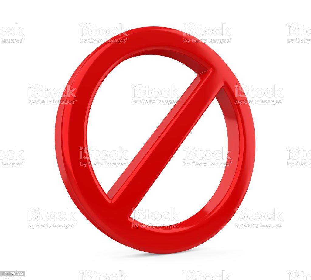 Roten verbotene Zeichen isoliert - Lizenzfrei Ausschluss Stock-Foto