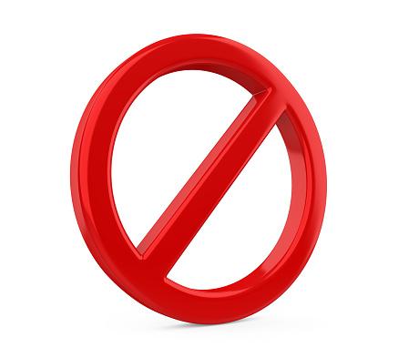 Roten Verbotene Zeichen Isoliert Stockfoto und mehr Bilder von Ausschluss