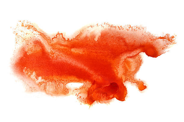 Red formless watercolor stain - foto stock