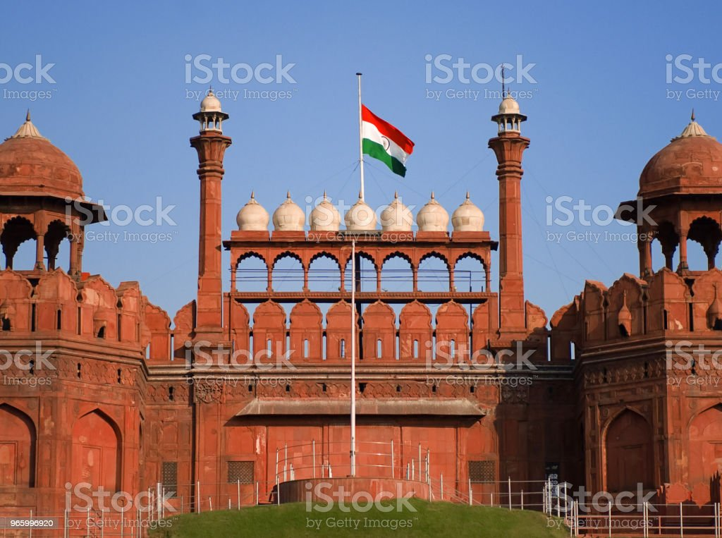 Red Fort, Agra, India stock photo