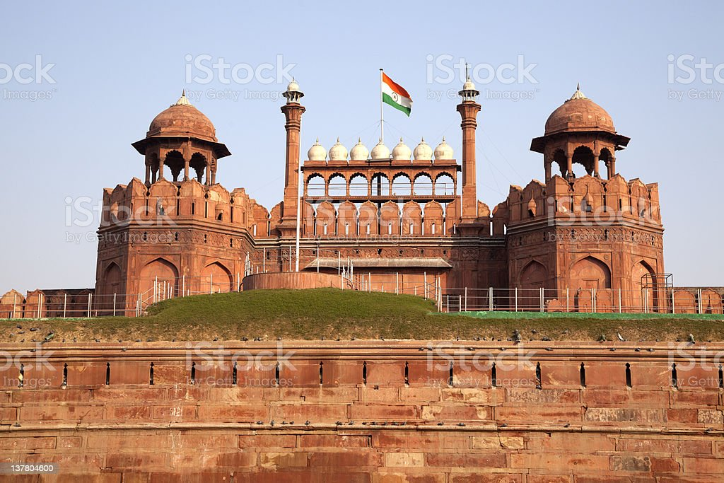 Red Fort at New Delhi India stock photo