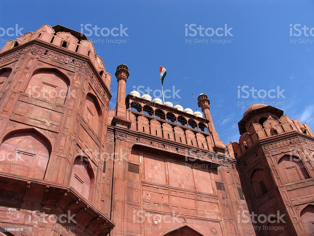 Red Fort, Delhi, India royalty-free stock photo