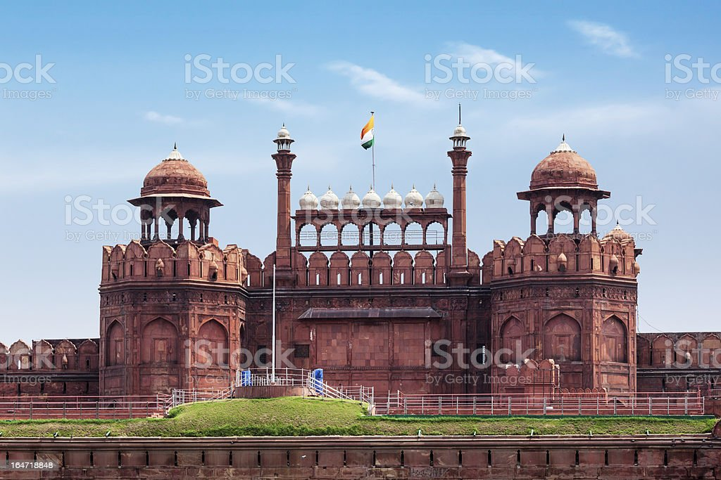 Red Fort (Lal Qila). Delhi, India stock photo